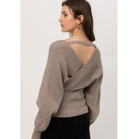 Love Tree Sweaters - Wrap style v-neck Sweater NEW